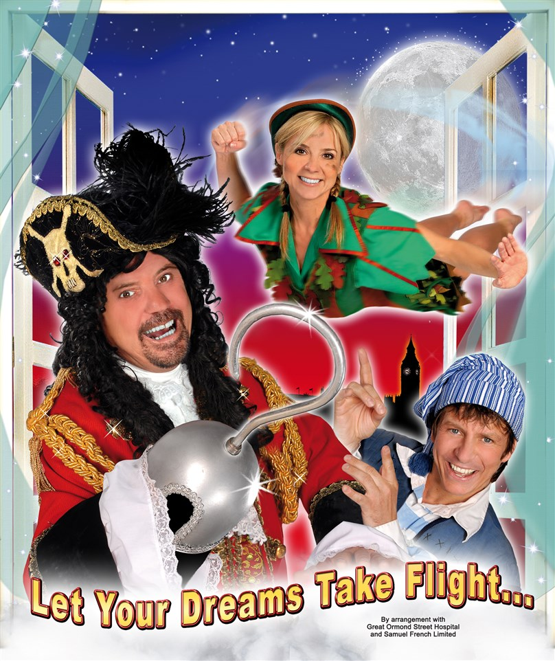 Peter Pan Pantomime presented by Blue Genie Entertainment starring Neighbours' Mark Little, CBeebies' Sarah-Jane Honeywell & Steve Walls!