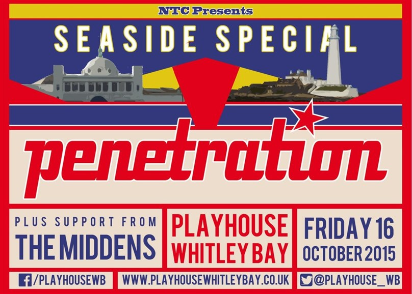 North Tyneside Council presents Seaside Special: PENETRATION & The Middens