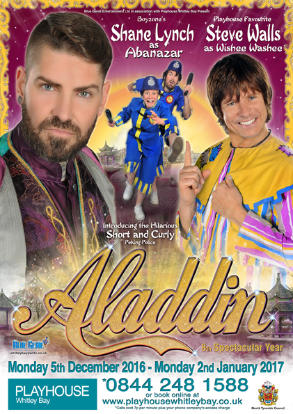 Christmas Pantomime: Blue Genie Entertainment presents 'Aladdin' starring Shane Lynch with Steve Walls
