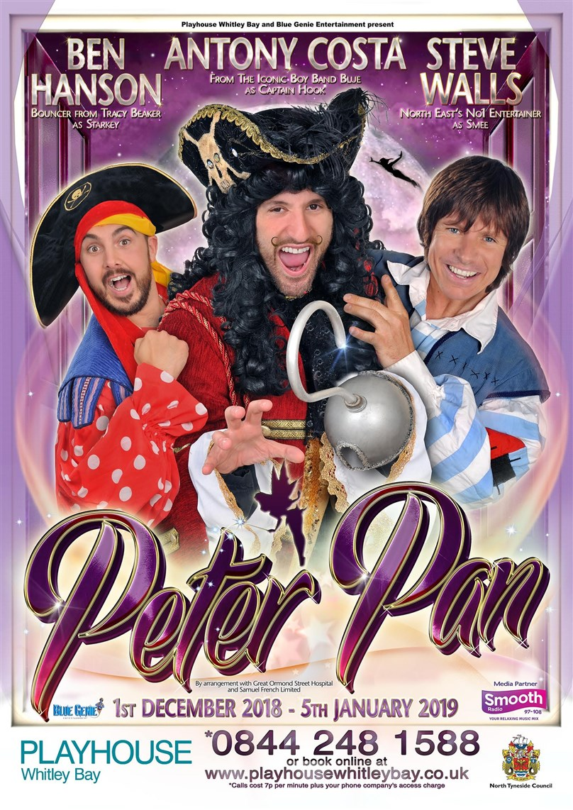Christmas Pantomime: Blue Genie Entertainment Presents 'Peter Pan' Starring Antony Costa from Blue and Steve Walls