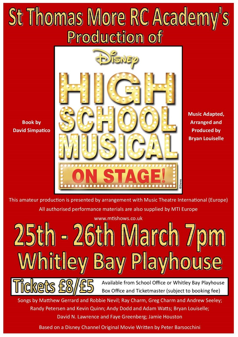 St Thomas More School presents High School Musical