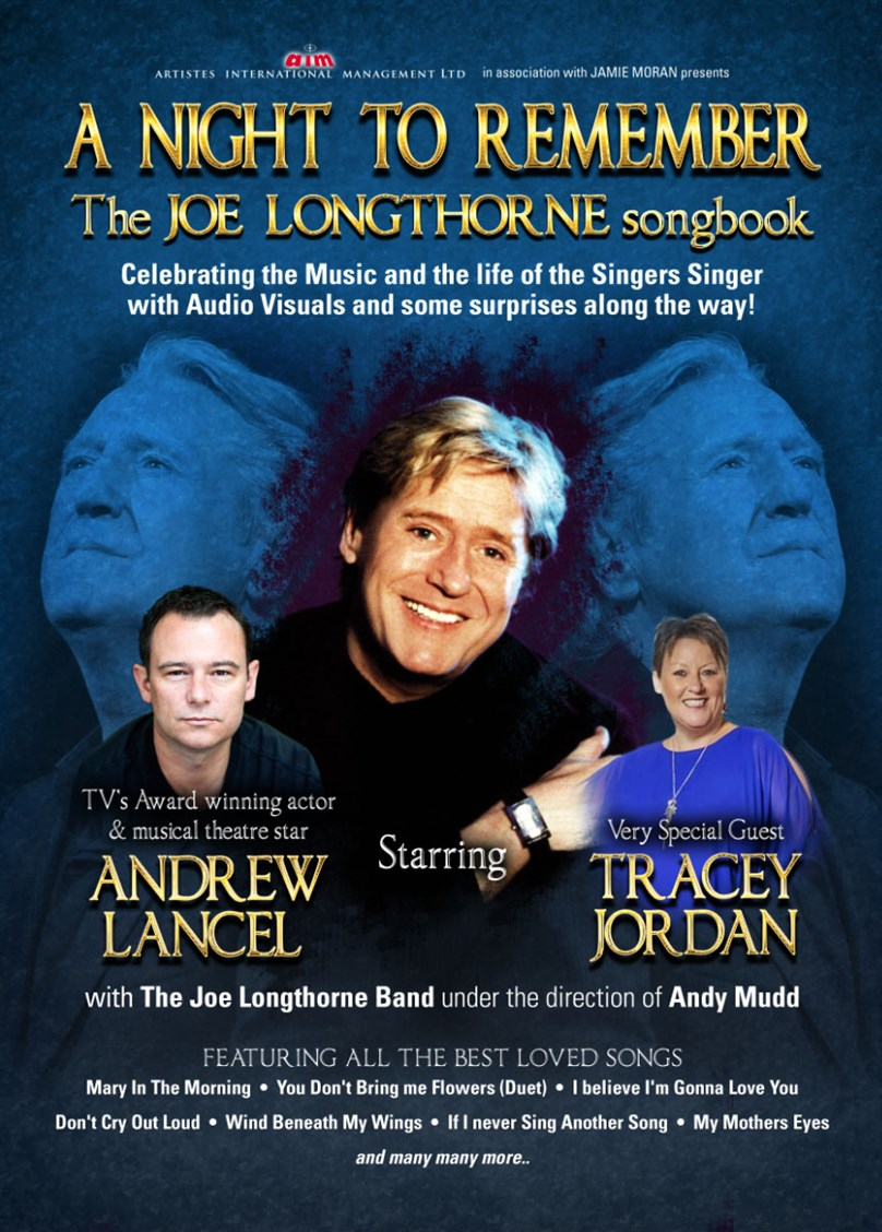 The Joe Longthorne Songbook starring Andrew Lancel and Tracey Jordan